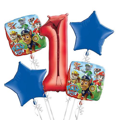 PAW Patrol 1st Birthday Balloon Bouquet 5pc Image #1