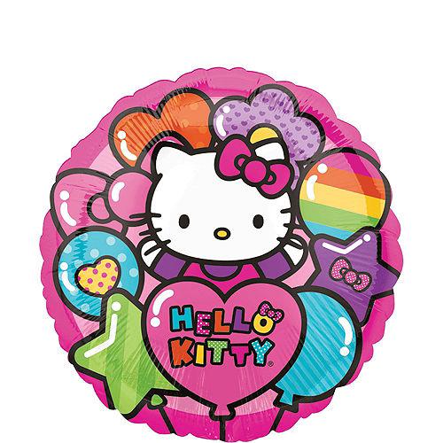 Rainbow Hello Kitty 1st Birthday Balloon Bouquet 5pc Image #3