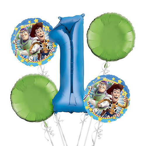 Toy Story 1st Birthday Balloon Bouquet 5pc Image #1