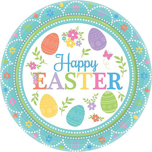 Egg-citing Easter Dessert Plates 8ct Image #1