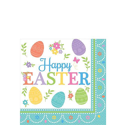 Egg-citing Easter Beverage Napkins 16ct Image #1