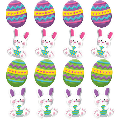 3D Easter Bunny Erasers 12ct Image #1