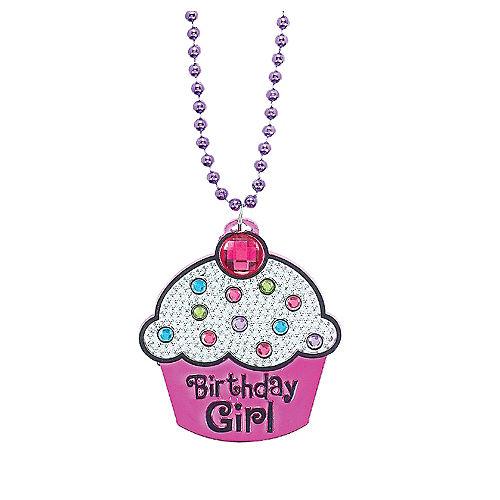Birthday Girl Cupcake Birthday Necklace Image #1