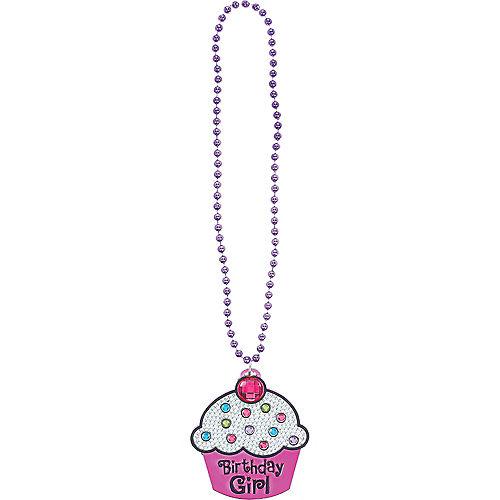 Birthday Girl Cupcake Birthday Necklace Image #2