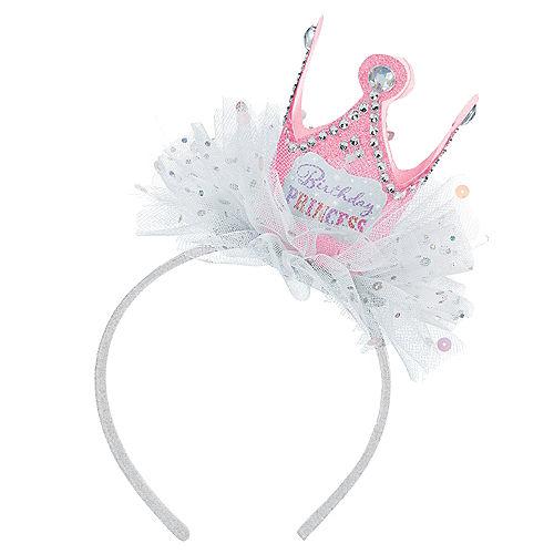 Pink Birthday Princess Crown Headband Image #1