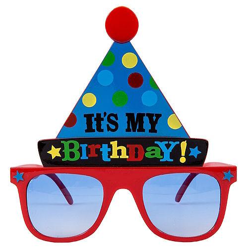 Bright Birthday Party Hat Sunglasses Image #1