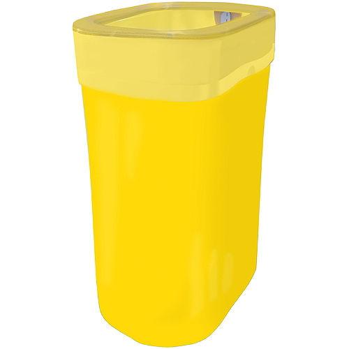 Yellow Pop-Up Trash Bin Image #1