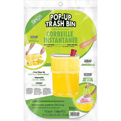 Yellow Pop-Up Trash Bin Image #2