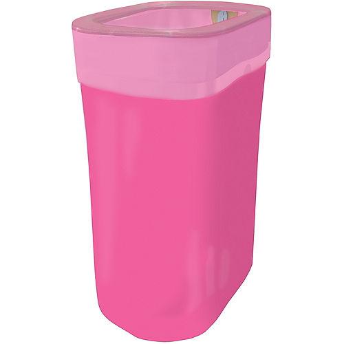 Bright Pink Pop-Up Trash Bin Image #1
