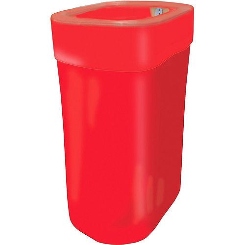 Red Pop-Up Trash Bin Image #1