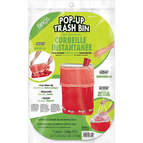 Red Pop-Up Trash Bin Image #2