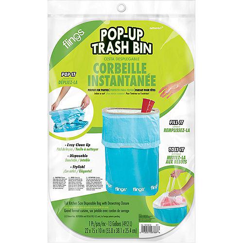 Caribbean Blue Pop-Up Trash Bin Image #2