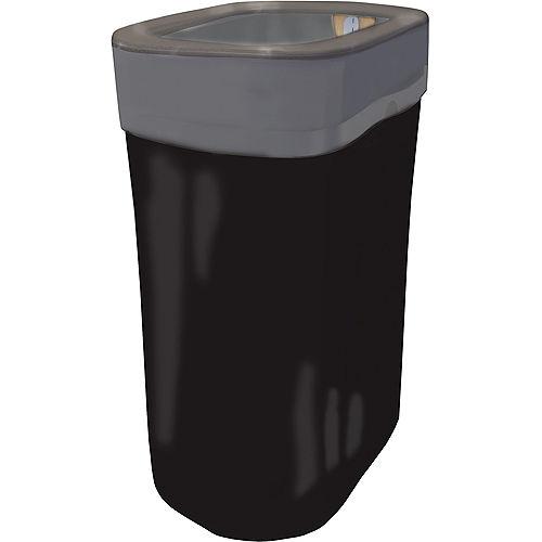 Black Pop-Up Trash Bin Image #1
