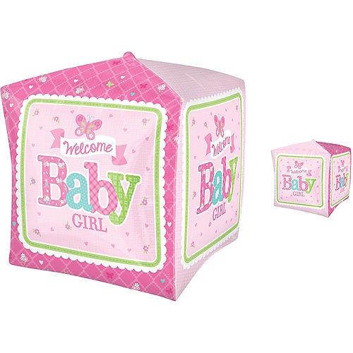 Girl Welcome Baby Balloon - Cubez Welcome Little One Image #1