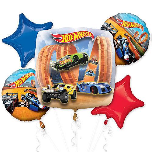 Hot Wheels Balloon Bouquet 5pc Image #1