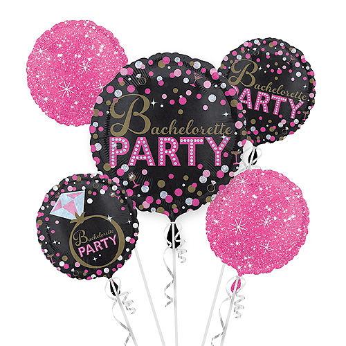 Bachelorette Party Balloon Bouquet 5pc - Sassy Bride Image #1