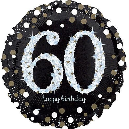 60th Birthday Balloon-Sparkling Celebration,18in Image #1
