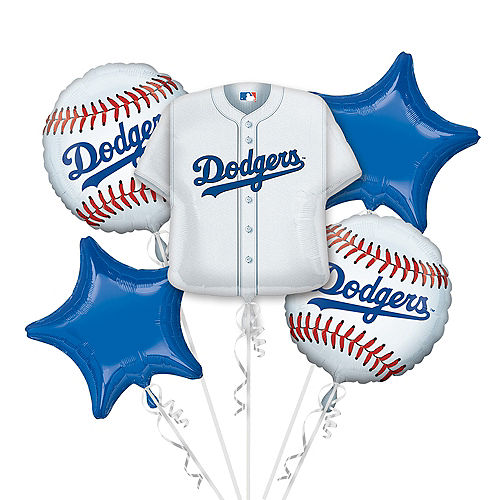 Los Angeles Dodgers Balloon Bouquet 5pc - Jersey Image #1