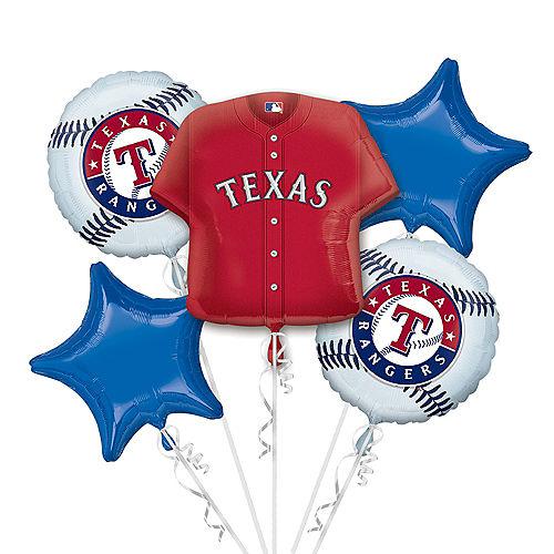 Texas Rangers Balloon Bouquet 5pc - Jersey Image #1