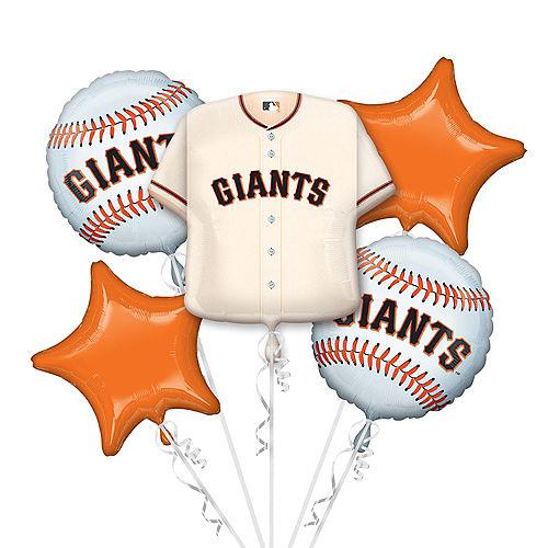 San Francisco Giants Balloon Bouquet 5pc - Jersey Image #1