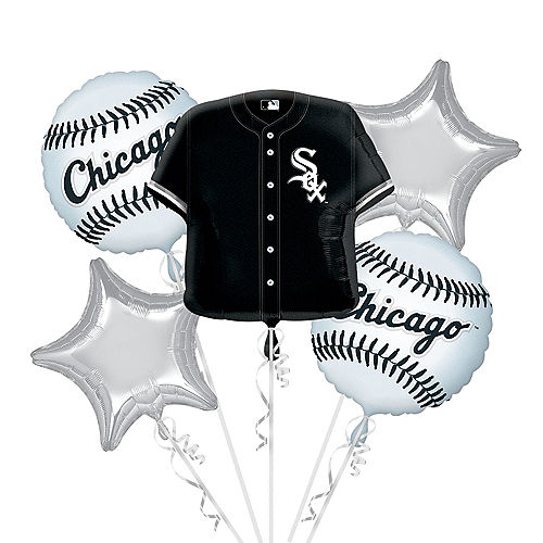 Chicago White Sox Balloon Bouquet 5pc - Jersey Image #1