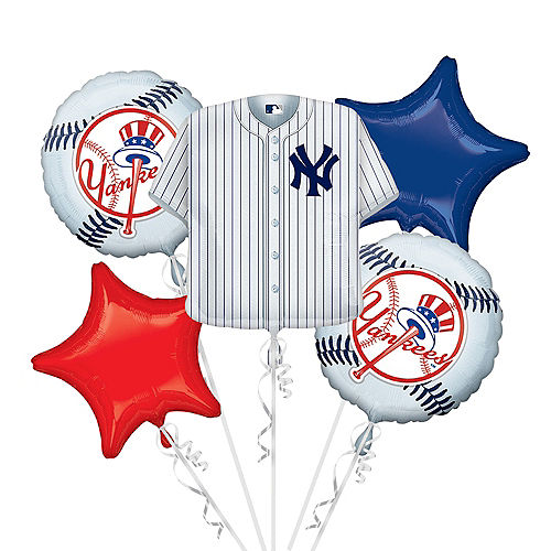 New York Yankees Balloon Bouquet 5pc - Jersey Image #1