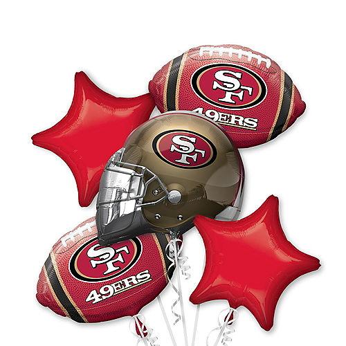 San Francisco 49ers Balloon Bouquet 5pc Image #1