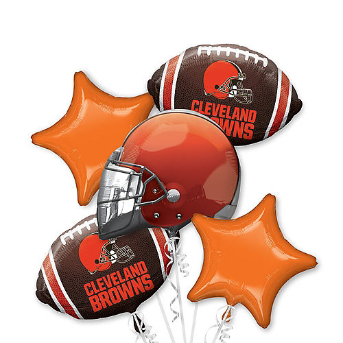 Cleveland Browns Balloon Bouquet 5pc Image #1