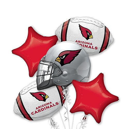 Arizona Cardinals Balloon Bouquet 5pc Image #1