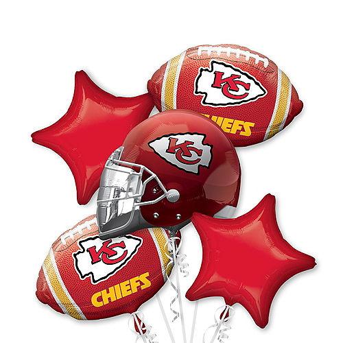 Kansas City Chiefs Balloon Bouquet 5pc Image #1