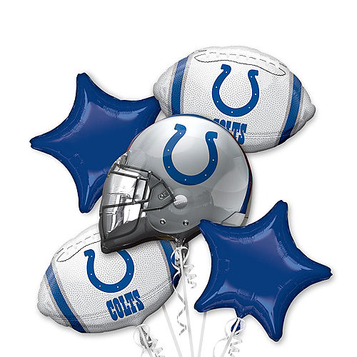 Indianapolis Colts Balloon Bouquet 5pc Image #1