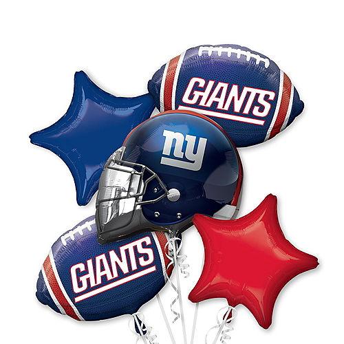 New York Giants Balloon Bouquet 5pc Image #1