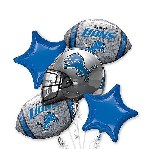 Detroit Lions Balloon Bouquet 5pc Image #1