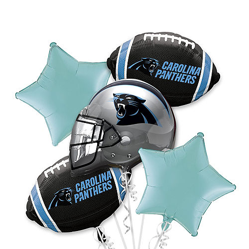 Carolina Panthers Balloon Bouquet 5pc Image #1
