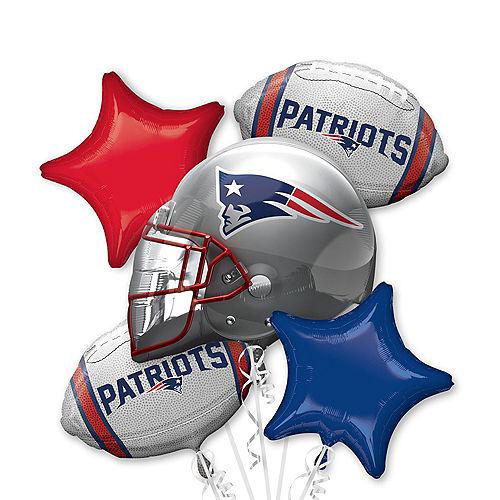 New England Patriots Balloon Bouquet 5pc Image #1