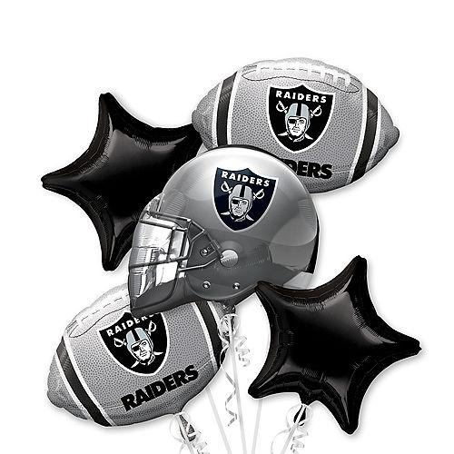 Las Vegas Raiders Balloon Bouquet 5pc Image #1