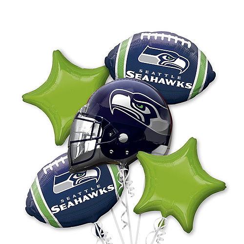 Seattle Seahawks Balloon Bouquet 5pc Image #1
