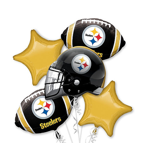 Pittsburgh Steelers Balloon Bouquet 5pc Image #1