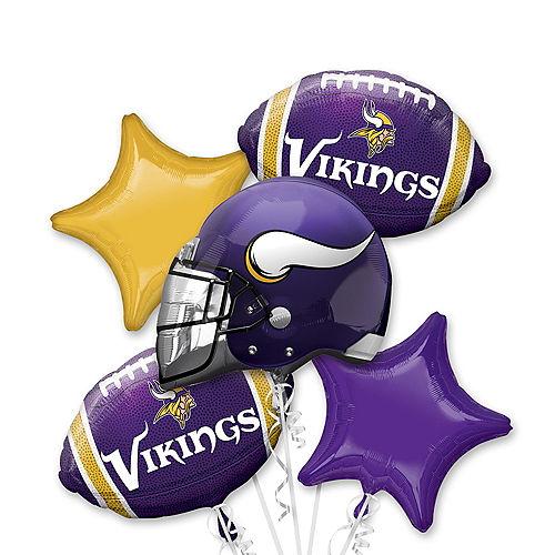 Minnesota Vikings Balloon Bouquet 5pc Image #1