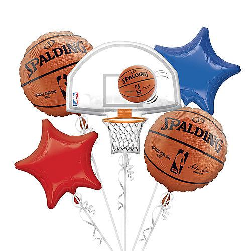 NBA Balloon Bouquet 5pc - Spalding Image #1