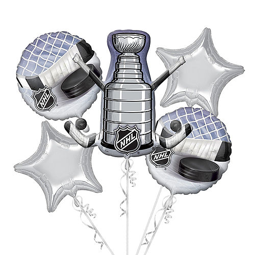 NHL Balloon Bouquet 5pc - Giant Stanley Cup Image #1