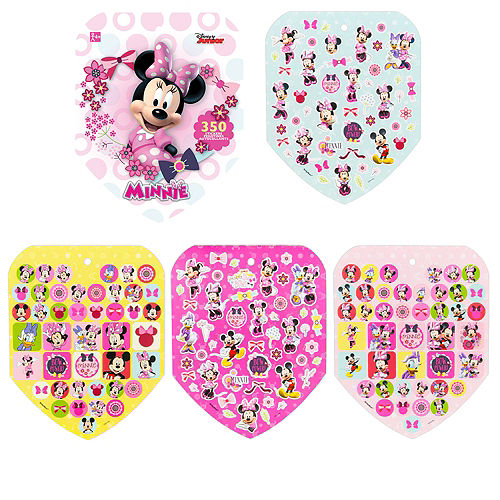 Jumbo Minnie Mouse Sticker Book 8 Sheets Image #1