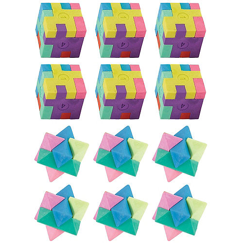 Puzzle Erasers 12ct Image #1