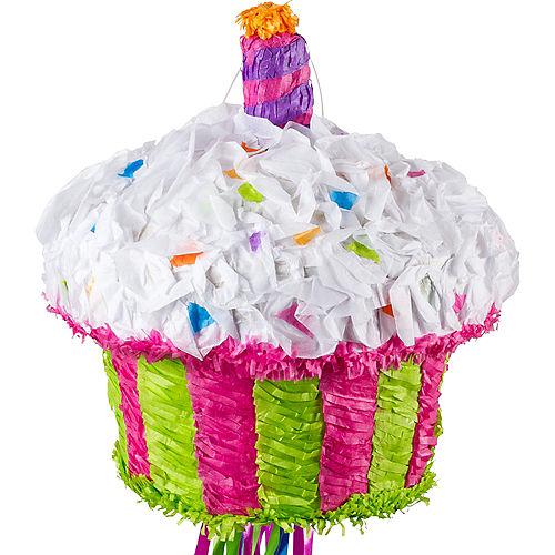Pull String Birthday Cupcake Pinata Image #1