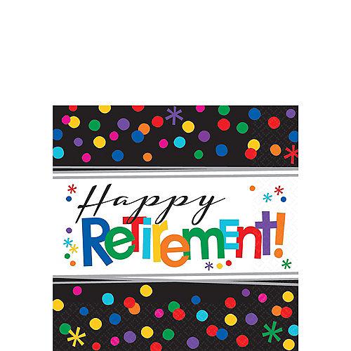 Happy Retirement Celebration Beverage Napkins 16ct Image #1