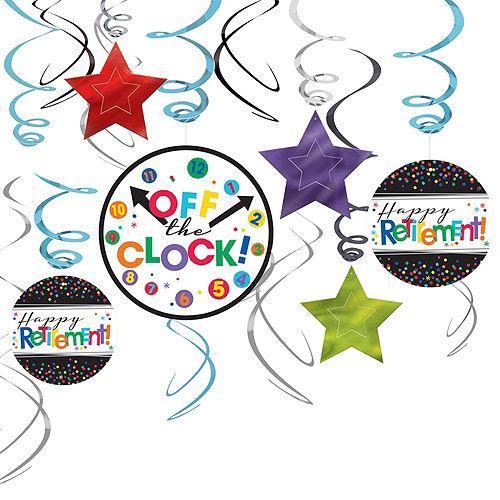 Happy Retirement Celebration Swirl Decorations 12ct Image #1