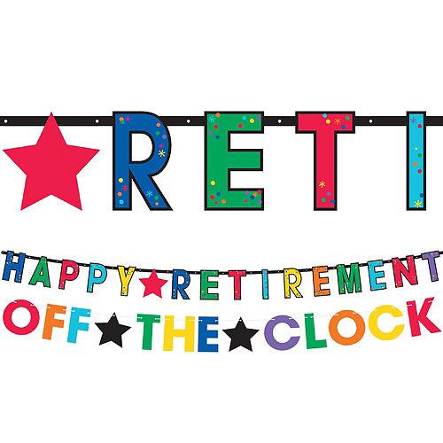 Happy Retirement Celebration Letter Banners 2ct Image #1