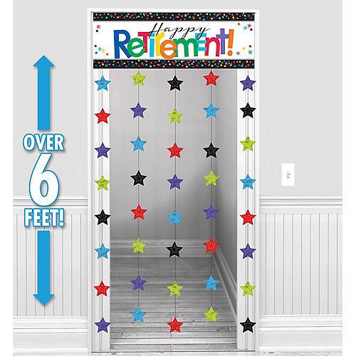 Happy Retirement Celebration Doorway Curtain Image #1