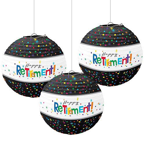Happy Retirement Celebration Paper Lanterns 3ct Image #1