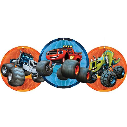Blaze and the Monster Machines Honeycomb Balls 3ct Image #1